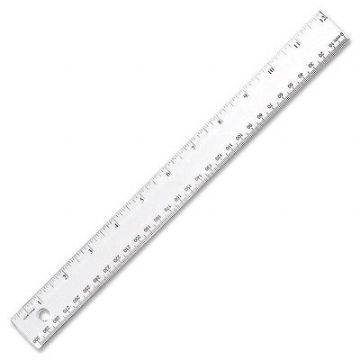 "12""/30cm CLEAR RULERS [Pack of 10] SHATTER-PROOF CLEAR PLASTIC RULERS"